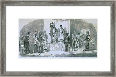 Slave Auction In Richmond, Virginia Framed Print by Everett