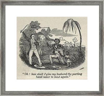 Slave Henry Bibb Begs For His Family Framed Print