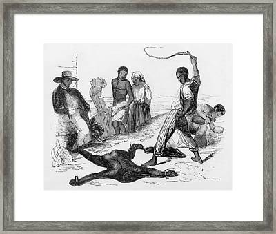 Slave Punishment In The French West Framed Print by Everett