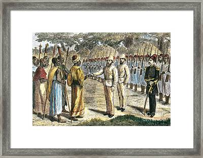Slave Trader Surrenders To Baker, 1869 Framed Print by Photo Researchers