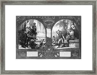 Slavery, Two Illustrations Showing Framed Print by Everett