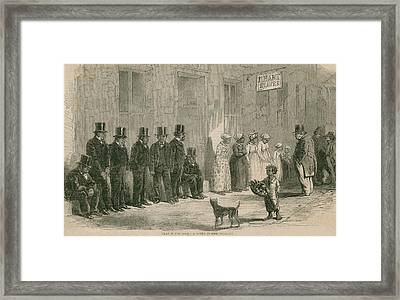Slaves For Sale In New Orleans In April Framed Print by Everett