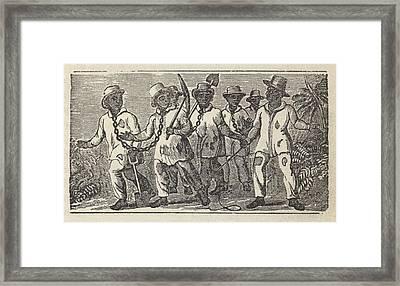 Slaves Often Travel In �coffles,� Framed Print