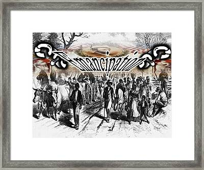 Slaves Traveling To Freedom Land Framed Print by Belinda Threeths