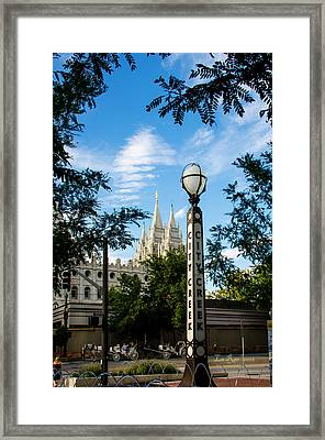 Slc Temple City Creek Framed Print by La Rae  Roberts
