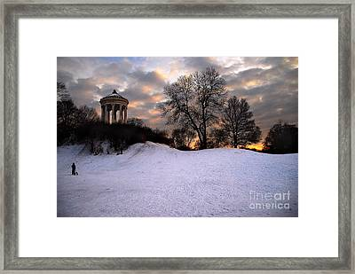 Sledge Ride Framed Print by Hannes Cmarits