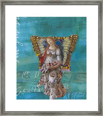 Sleep To Dream Her Framed Print by Kanchan Mahon