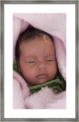 Sleeping Angel Framed Print by Heiko Koehrer-Wagner