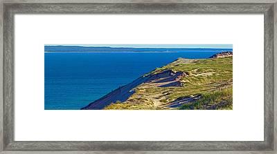 Sleeping Bear Dunes Panirama Framed Print by Twenty Two North Photography