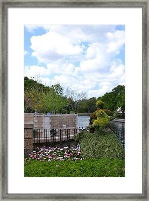Sleeping Beauty And Her Prince Framed Print by Bonnie Myszka