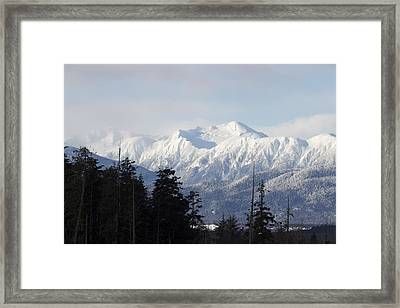 Framed Print featuring the photograph Sleeping Beauty Mountain by Sylvia Hart