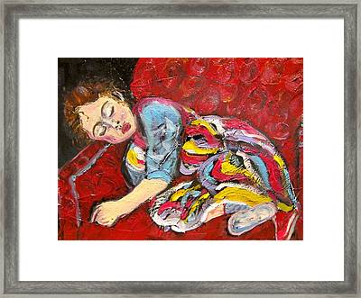 Sleeping Beauty Serenity Framed Print