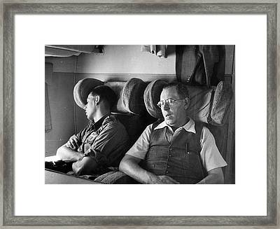 Sleeping Passengers Framed Print by Haywood Magee