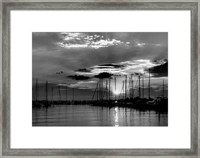 Sleepy Harbor Framed Print by Skip Willits