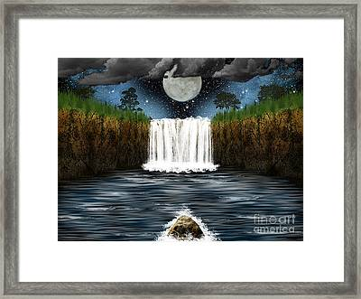 Sleepy River Framed Print