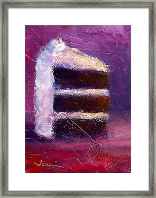 Slice Of Decadence Framed Print by Jeannine Luke