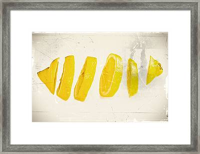 Sliced Lemon Framed Print by Lacaosa
