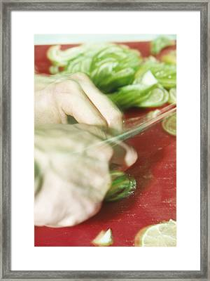 Sliced Limes Framed Print by Cristina Pedrazzini