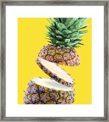 Sliced Pineapple Framed Print by Victor Habbick Visions