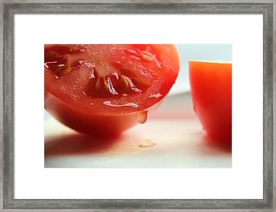Sliced Tomato Framed Print