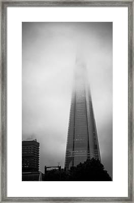 Framed Print featuring the photograph Slicing Through The Mist by Lenny Carter