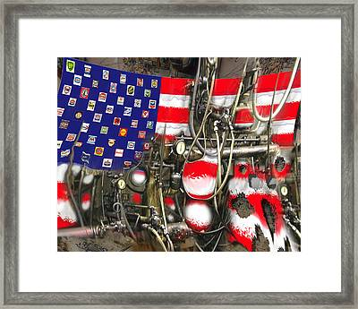 Framed Print featuring the digital art Slickstar by Steve Sperry