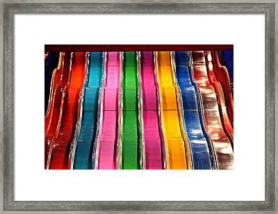 Framed Print featuring the photograph Slides by Jo Sheehan