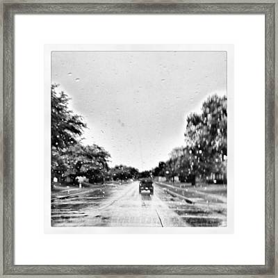 Slight Drizzle In Early Summer Framed Print by Kel Hill