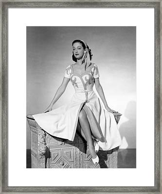Slightly French, Dorothy Lamour, 1949 Framed Print by Everett