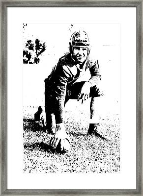 Slingin' Sammy Baugh 1937 Litho Framed Print by Padre Art
