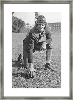 Slingin' Sammy Baugh 1937 Framed Print by Padre Art