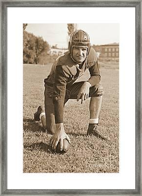Slingin' Sammy Baugh 1937 Sepia Framed Print