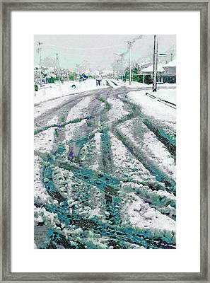 Framed Print featuring the photograph Slipping And Sliding  by Steve Taylor