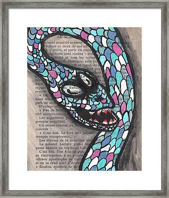 Slithering Snake Framed Print by Jera Sky