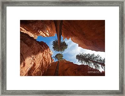 Slot Canyon Framed Print by Greg Dimijian