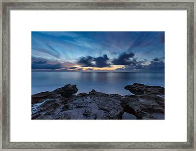 Slow Motion Framed Print by Claudia Domenig