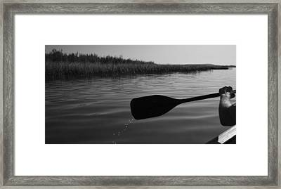 Slow Paddle Framed Print