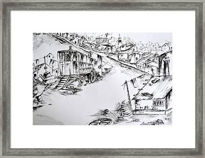 Slum Framed Print by Sumit Jain