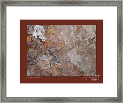 Framed Print featuring the photograph Slushy Autumn Leaves-i by Patricia Overmoyer