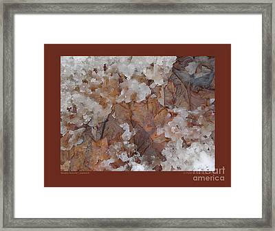 Framed Print featuring the photograph Slushy Autumn Leaves-ii by Patricia Overmoyer