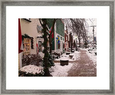 Slushy Sidewalk Framed Print
