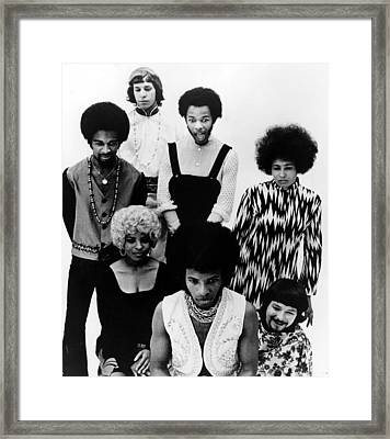 Sly And The Family Stone, C. 1970 Framed Print
