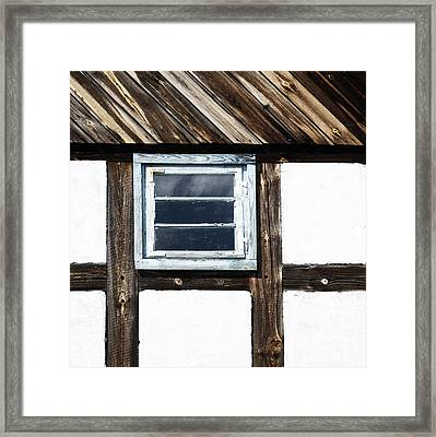 Framed Print featuring the photograph Small Blue Window by Agnieszka Kubica