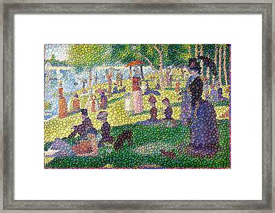 Small Bubbly Sunday On La Grande Jatte Framed Print by Mark Einhorn