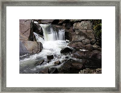 Small Falls 1 Watercolor Framed Print by Mike Lytle