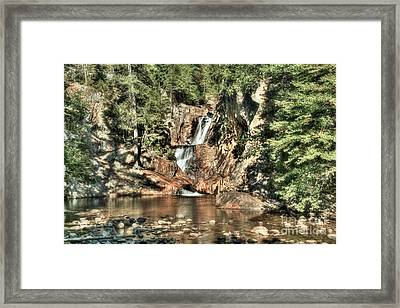 Small Falls Framed Print by Brenda Giasson