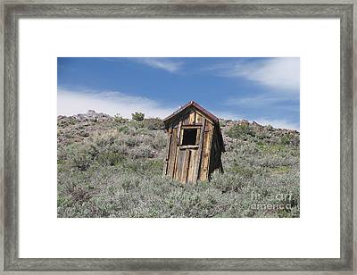 Small Ghost Town Outhouse Framed Print