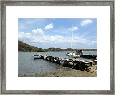 Small Harbour Framed Print by Marlon Scoop