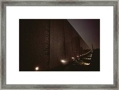 Small Lights Illuminate The Path Framed Print
