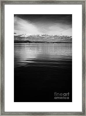 Small Roes Island One Of The Many Flat Shallow Areas Of Lough Neagh Northern Ireland  Framed Print by Joe Fox